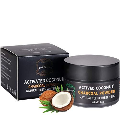 Zahnaufhellung,Aktivkohle Pulver,Weiße Zähne,Natürliche Zahnpasta, Kokosnuss Activated Charcoal Zahnpasta Natürliche Carbon Coco Pulver Mint Flavour