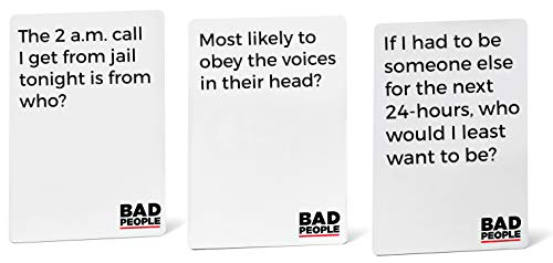 BAD PEOPLE - NSFW Brutal Expansion Pack (100 New Question Cards) - The Party Game You Probably Shouldn't Play