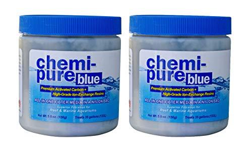 Boyd Enterprises Chemi-Pure Aquarium Filtration Media, 5.5-Ounce, Blue (2-Pack)