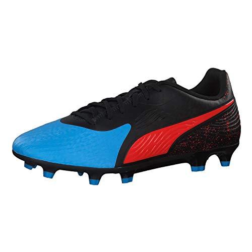 PUMA Men ONE 19.4 FG AG Bleu Azur-Red Blast-Black Football Shoes-10 UK (10549201)