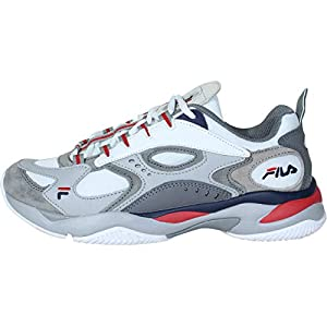 Fila Men's Boveasorus Shoes Sneakers (11, White/Navy)