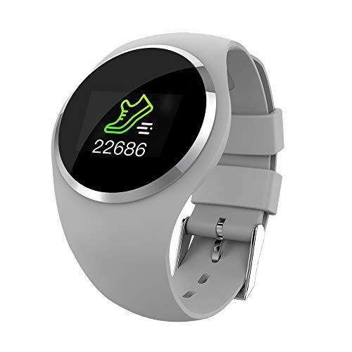 Reloj inteligente para mujer con monitor de frecuencia cardiaca, presión arterial, Bluetooth, podómetro táctil inteligente