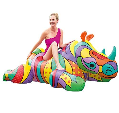 POP Rhino Inflatable Ride-On Pool Float