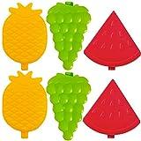 L + H WORLD 6er Set Kleine Kühlakkus Früchte Design   Mini Kühl-Elemente   Kühlakku klein für...