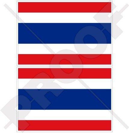 Thailand Flagge, thailändische Siam Siam 10,2cm (100mm) Bumper Sticker, Aufkleber Vinyl X2