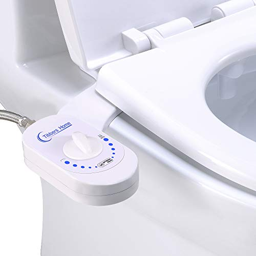Tibbers Home Bidet, Self-Cleaning Nozzle, Fresh Water Non-Electric Mechanical Bidet Toilet Attachment, Easy to Install, White