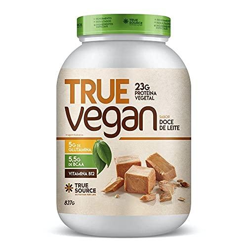 True Vegan Proteína Vegetal - 837G Doce de Leite, True Source