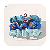 3 unids/set Navidad cuerda de pelo conjunto 1 set Scrunchie mujeres niñas Navidad impresión bandas elásticas para el cabello banda de goma Headwear accesorios para el cabello-6-