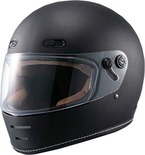 マルシン(MARUSHIN) バイクヘルメット ネオレトロ フルフェイス END MILL (エンド ミル) マットブラック Lサイズ MNF1 2001325