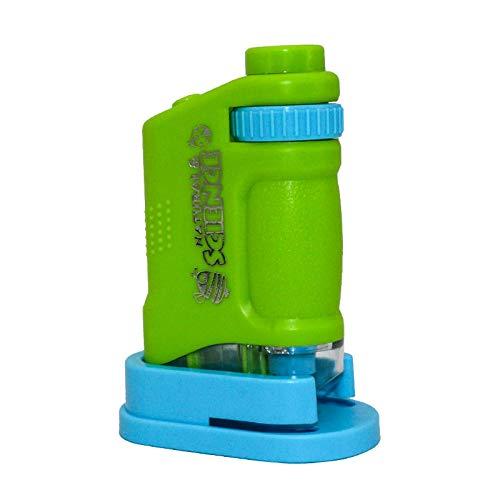 Manyao Conjunto de microscopios iluminados LED 80X Home School Lab Ciencias Educativo microscopio biológico para niños Juguete niño Regalo con Diapositivas (Color : As pic5)
