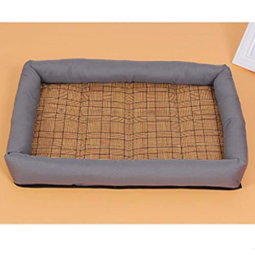 Perrera Cama De PerroComfortable Linen Cat Dog Pad Crates Summer Ice Cooling...