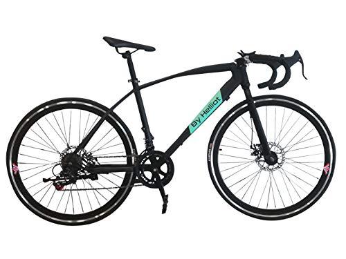 Helliot Bikes Ruzafa 01 Bicicleta de Carretera Urbana, Adultos Unisex, Negro, Talla única