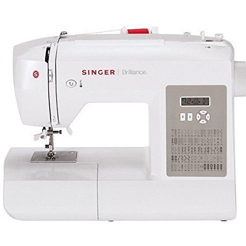 SINGER Brilliance 6180 Computerised sewing machine - Máquina de coser (Blanco, Computerised sewing machine, Costura, 1 paso, LCD, 750 RPM)