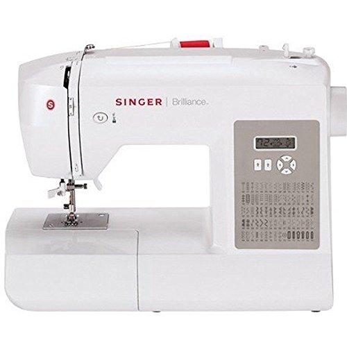 SINGER Brilliance 6180 Nähmaschine für Nähmaschine, Nähmaschine, 1 Schritt, LCD, 750 U/min, Weiß