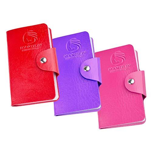 Lurrose 3 stücke Rechteckige Nail art Stamper Aufbewahrungskoffer PU Nail art Vorlagen Kartenorganisator