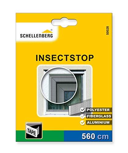 Schellenberg 50028 Befestigungsband weiß für Fliegengitter aus Polyester, Fiberglas und Aluminium (5,6 m Länge)