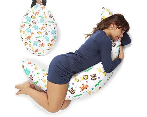 Niivetto Stillkissen Schwangerschaftskissen zum schlafen groß XXL erwachsene mit Bezug Lagerungskissen Seitenschlaferkissen fur Mutter und Baby in verschiedene Farben von Niimo
