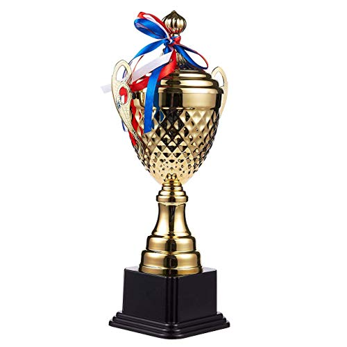 Juvale Large Gold Trophy Cup for Sport Tournaments, Competitions (15.2 x 7.5 x 3.7 in)