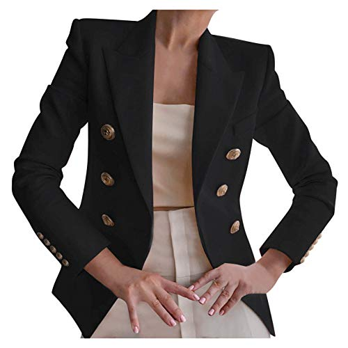 ours blazers for women Dress Suits for Women Blazer Outfit Ruched Work Office Button Suits Black Womens Blazer,Tweed Blazers for Women