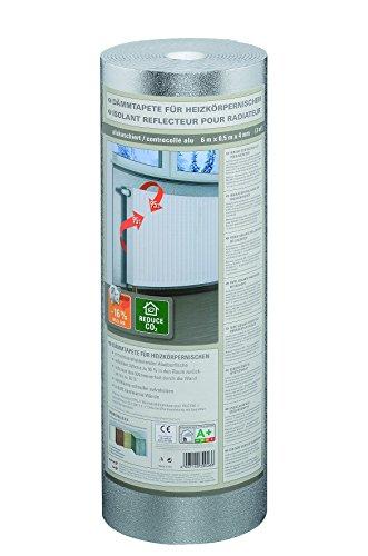 Isolant EPS contrecollé alu sous papier peint, rouleau, 6 x 0,5 m x ~4 mm - PRIX SPECIAL LOT de 4 rouleaux (=12 m2)