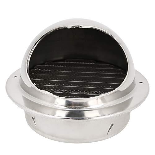 Accesorio de ventilación de Salida con Superficie Lisa Diseño de Malla de Acero Inoxidable Salida de Escape del Ventilador, Ventilador de Cocina Ventilación de Escape para el Ventilador