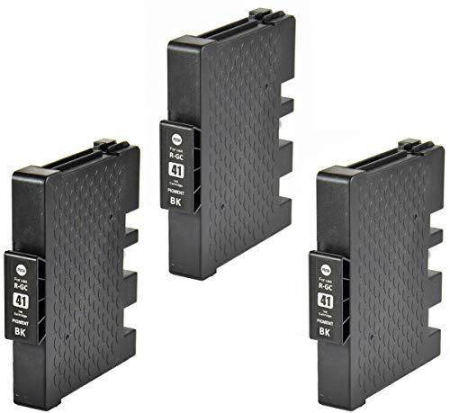 Bergsan 3 cartuchos de tinta compatibles con Ricoh Aficio GC-41XL GC 41 XL Compatible con Ricoh Aficio SG2100N SG3100SNW SGK3100DN SG3110DN SG3110DNW SG3110SFNW SG3120BSFNW SG3120BSF SG7100DN (negro)