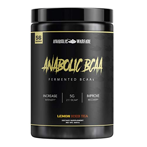 Anabolic BCAA Powder Supplement by Anabolic Warfare – BCAAs Amino Acids to Help Fuel Your Workout and Assist in Muscle Recovery (Lemon Iced Tea - 56 Servings)