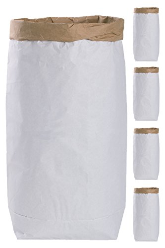 Lifestyle Lover 5 bolsas de papel para manualidades, redondas, de papel de estraza marrón y blanco