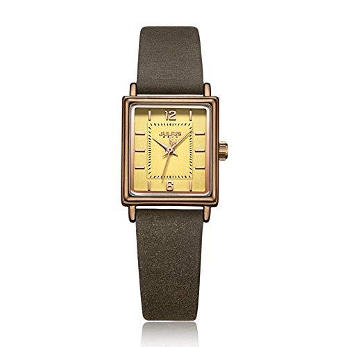 CHENDX Cuadrado Retro de la Moda Fresca pequeña Relojes de Cuarzo Sra Simple Impermeable Forma Femenina Estudiantes (Color : E)