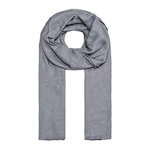 MANUMAR Schal für Damen einfarbig   Hals-Tuch in hell-grau als perfektes Herbst Winter Accessoire   Klassischer Damen-Schal   Stola   Mode-Schal   Geschenkidee für Frauen und Mädchen