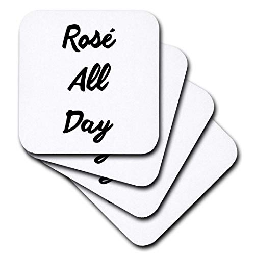 3D Rose Rose All Day Soft Coasters, Multicolor