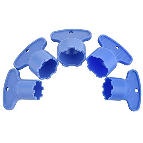 MOVKZACV 5 llaves de aireador profesional para lavabo, cocina, hogar, grifo de bricolaje, aireador, llave de extracción de herramientas ABS