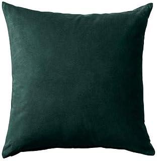 SANELA IKEA poszewka na poduszkę w kolorze ciemnozielonym;