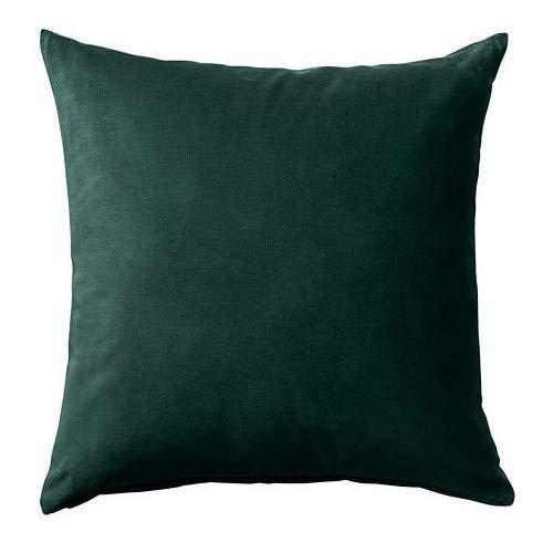 SANELA IKEA Kissenbezug in dunkelgrün; 100% Baumwolle; (50x50cm)