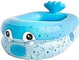 ZFAYFMA Piscina hinchable para niños, fácil de montar/resistente al desgaste y duradera/spraycenter, adecuada para familias y exteriores, color azul, 110 x 90 x 35 cm