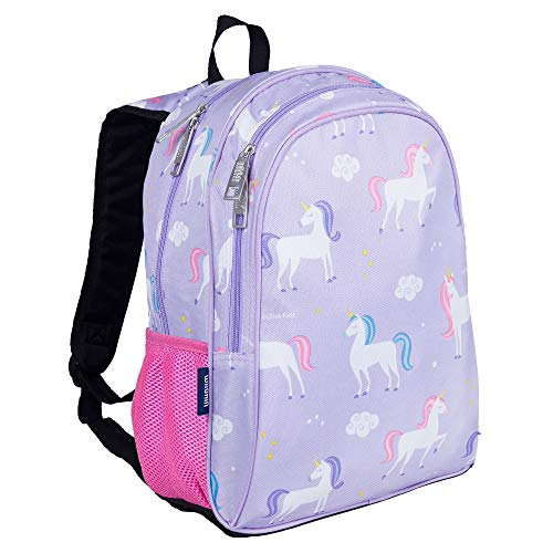 Wildkin 15 Inch Kids Backpack for Boys & Girls, 600-Denier Polyester Backpack for Kids, Features Padded Back & Adjustable Strap, Perfect Size for School & Travel Backpacks, BPA-free (Unicorn)