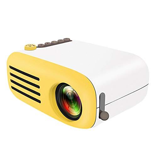 LG&S Mini Proyector Doméstico Portátil De Bolsillo HD 1080P LED Proyector De Películas Compatible con HDMI/AV/SD/USB Interfaces para Fiestas En El Hogar Reuniones Teatro Y Juegos,Amarillo