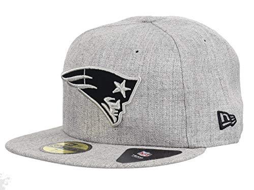 New Era NFL Heather 59Fifty Cap New England Patriots Grau, Size:7 1/4