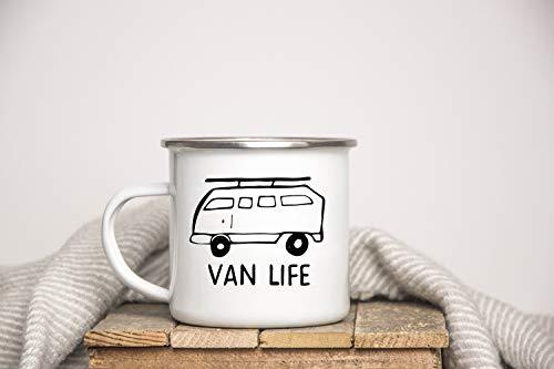 DKISEE Vanlife, Van Life, Camping Mug, Camper Mug, Wanderlust, Camp Mug, Gift For RV, Enamel Mug, Travel Gift, Adventure Mug, Campervan 10oz