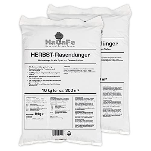 HaGaFe Herbstrasendünger Herbst Rasendünger Kaliumdünger Dünger, 20kg (2x10kg)