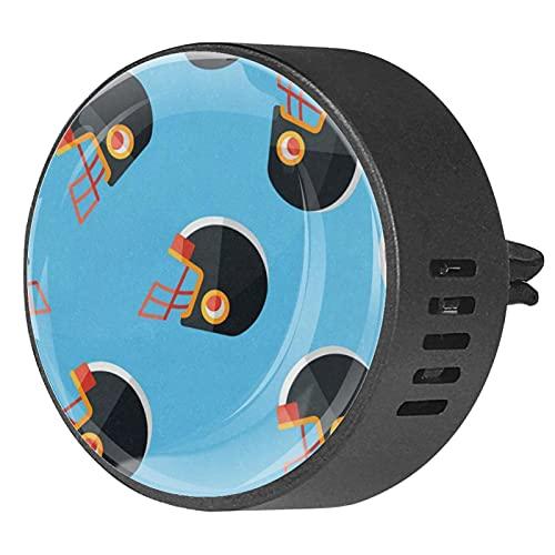 Difusor de coche para clips de ventilación de aceite esencial,Casco de fútbol americano ,2 paquetes de ambientadores de aromaterapia de 40 mm