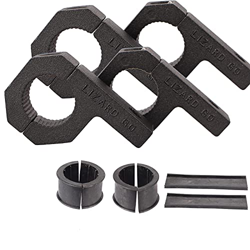 LIZARD GO Bar Clamps - 4Pack,Horizontal Roll Cage Clamp 0.75 inch,0.875 inch,1.0 inch,Roll Bar Clamp for Bar Diameter 3/4