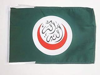 أعلام علم التعاون الإسلامي من AZ FLAG 18 بوصة × 12 بوصة - OIC - أعلام صغيرة لرجل مسلم 30 × 45 سم - لافتة 18 × 12 بوصة