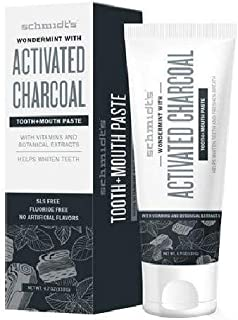Schmidt's Wondermint with Activated Charcoal Toothpaste, 4.7 oz (Pack of 2)