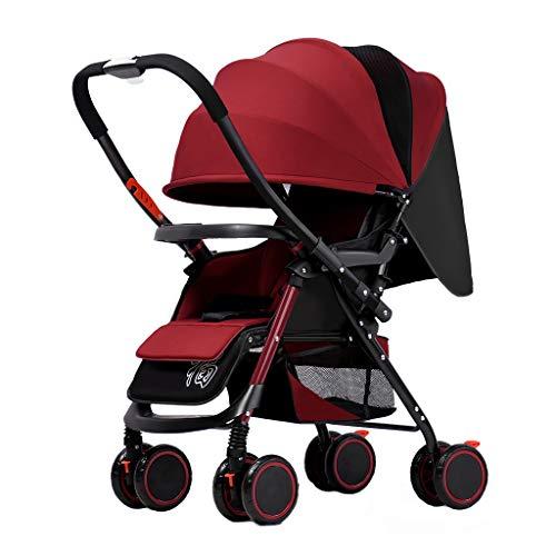 Great Price! JAD@ Baby Stroller Can Sit Reclining Lightweight Folding Four-Wheel Shock Newborn Baby ...