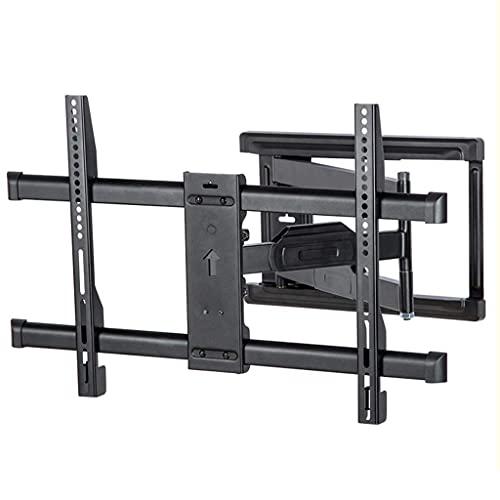 FACAZ Soporte de Pared para TV, Brazo Giratorio telescópico con bisagras, ángulo Ajustable para TV de 32-65 Pulgadas (Color: Negro, tamaño: 28 * 75 cm)
