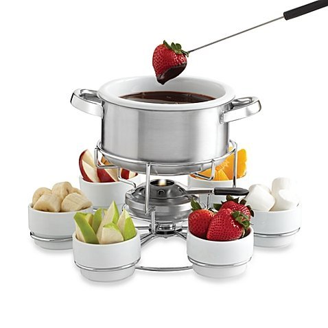MY PERFECT KITCHEN 17 pc Stainless Steel Lazy Susan Fondue Set