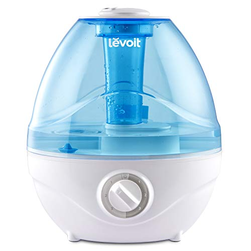 Levoit 2400ml Humidifiers for Bedroom, Ultrasonic Cool Mist Humidifier for Baby, BPA Free, 24 Working Hours, Night Light, Waterless Auto-Off, 24dB Quiet Air Humidifier for Home, Babyroom, Living Room