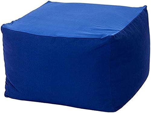 YJchairs Sitzsack - Faules Sofa Ergonomie EPS Mehrzwecksitz Nordischer Stil Quadratischer Hocker Lounge-Sessel (Farbe   Dunkelblau)