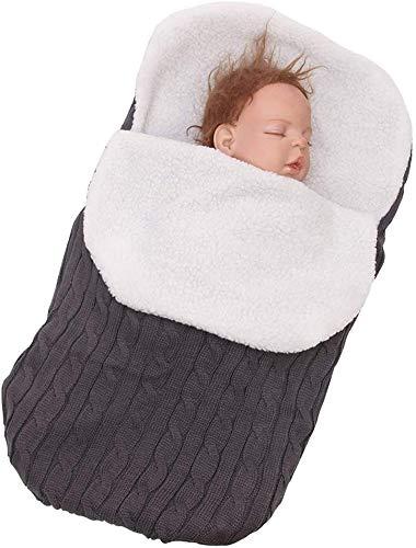 Richaa Saco de Dormir para Recién Nacido, Saco de Dormir, Manta de Bebé con Cachemira, Envoltura de Cochecito de Bebé para Niños de 0-12 Meses